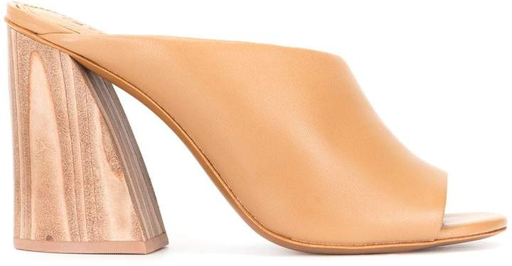 c5e4e7f67c0 asymmetric chunky heel mules