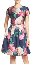 Eliza J Petite Women's Floral Print Fit & Flare Dress