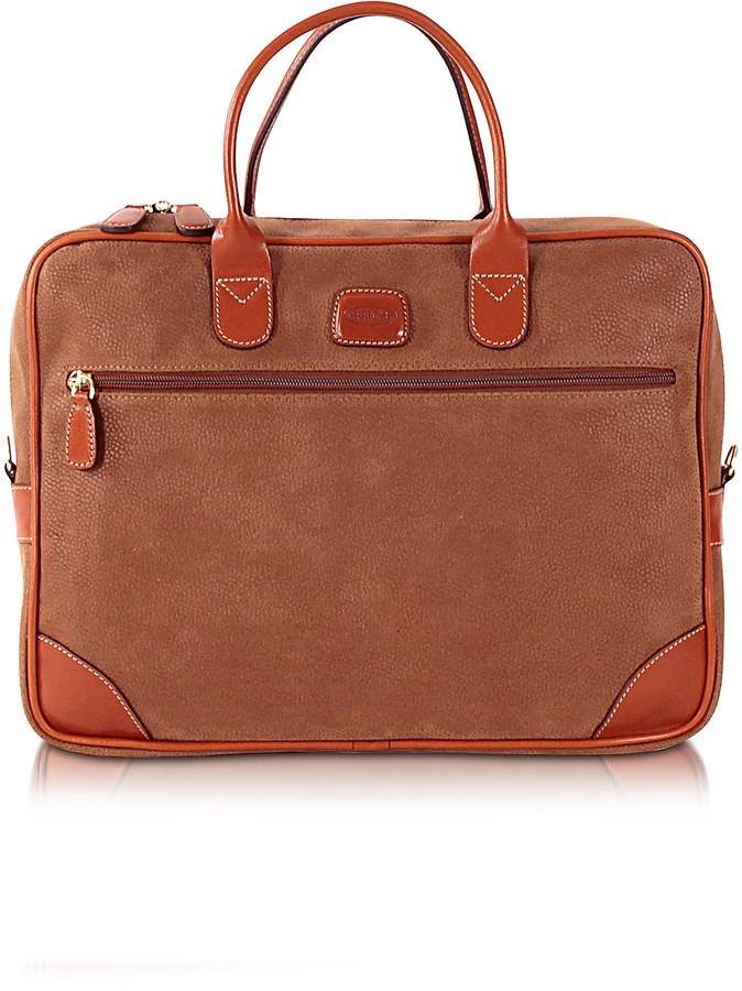 Bric's Life Camel Micro Suede Briefcase