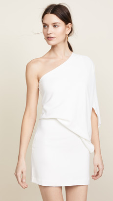 Halston One Shoulder Dress
