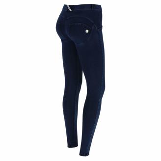 Freddy WR.UP Regular-Rise Super Skinny Trousers in Dark Jersey Denim - Dark Jeans-Blue Seam - Extra Large
