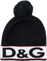 Dolce & Gabbana intarsia logo bobble hat
