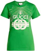 Gucci Crystal-embellished logo-print cotton T-shirt
