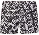Onia Calder Long-Length Printed Swim Shorts