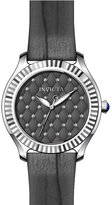 Invicta Women's Angel Grey Leather Band Steel Case Quartz Analog Watch 22565