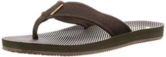 Freewaters Men's Supreem Legacy Flip Flop Sandal w/Arch Support/Vegan Materials/Canvas Strap