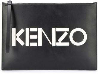 Kenzo A4 Colour Block clutch