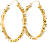 Tom Binns Studded Crystal Hoop Earrings
