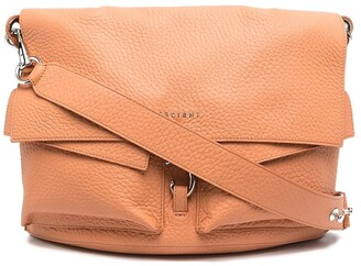 Orciani Logo Plaque Leather Clutch Bag