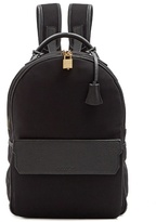 Buscemi Leather-trimmed neoprene backpack