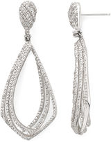 ADDICTION FINE JEWELRY Diamond 1/10 CT. T.W. Sterling Silver/Brass Diamond Drop Earrings