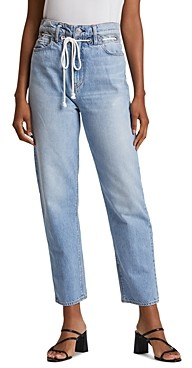 Hudson Elly Extreme High-Waist Cropped Straight Jeans in Skylines