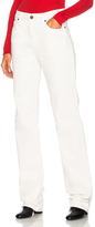 Calvin Klein High Rise Straight Jeans in White.