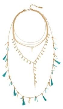 "Jessica Simpson Tassel Multi Row Necklace Set, 16""-31"" + 2"" Ext"
