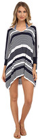 Tommy Bahama High Low Striped Beach Sweater Cover-Up