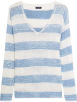 Splendid Southampton Striped Linen Sweater - Sky blue