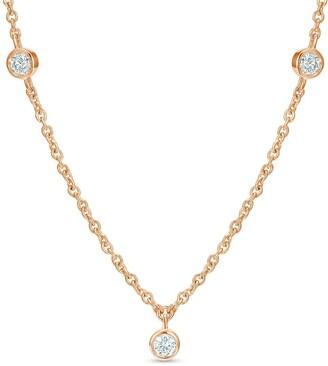 De Beers 18kt rose gold diamond Clea short necklace