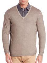 Pal Zileri V-Neck Wool Sweater