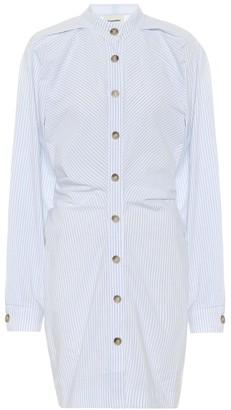 Nanushka Violet striped cotton shirt dress