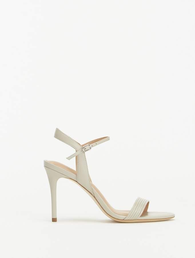 Halston Whitney Leather High Heel Sandal