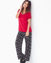 Soma Intimates Short Sleeve Pajama Set Hush Scenic Ruby