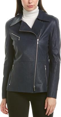 Lafayette 148 New York Elwood Leather Jacket