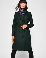 Ted Baker Wool-blend long wrap coat