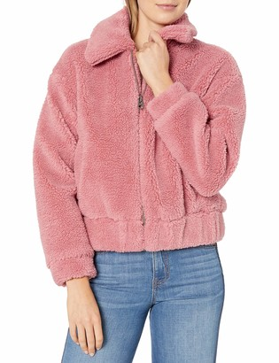 Lucky Brand Women's Bomber Faux Fur Jacket
