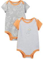 Boppy Elephant Bodysuits - Set of 2 (Baby Boys)