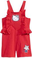 Hello Kitty Bow-Back Romper, Little Girls