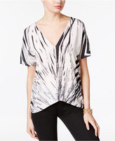 Bar III Printed V-Back Top, Only at Macy's