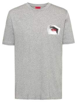 HUGO Reverse-logo T-shirt with front and back Berlin print