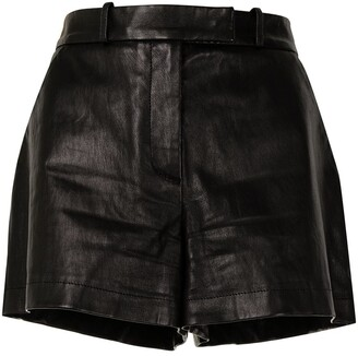 Emilio Pucci Pre-Owned High-Waisted Leather Shorts
