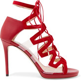 Jimmy Choo Dani leather, suede and PVC sandals