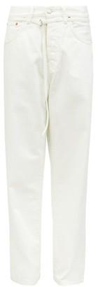 Acne Studios 1991 Toj Belted High-rise Straight-leg Jeans - White