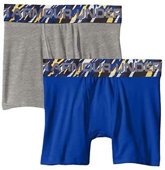 Under Armour Kids 2-Pack Solid Cotton Boxer Set (Big Kids) (Royal) Boy's Underwear