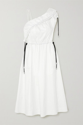 3.1 Phillip Lim One-shoulder Stretch-cotton Poplin Midi Dress - White