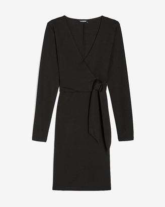 Express Side Tie Long Sleeve Sheath Dress