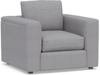 Pottery Barn PB Air Square Arm Upholstered Armchair