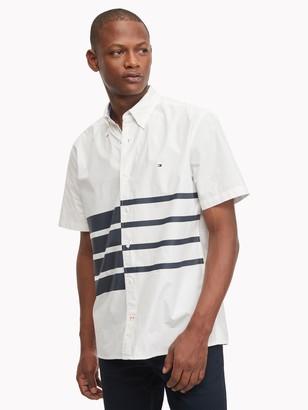 Tommy Hilfiger Classic Fit Essential Stripe Short-Sleeve Shirt