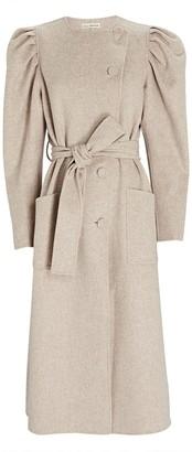 Ulla Johnson Wren Puff Sleeve Wool Coat
