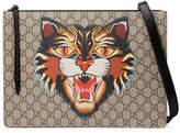 Gucci Angry cat print GG Supreme messenger