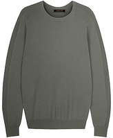 Jaeger Integral Rib Crew Neck Jumper, Green