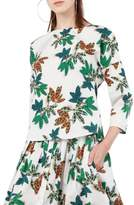 Akris Punto Tropical Print Cotton Blouse