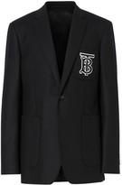 Burberry Slim Fit Monogram Motif Wool Flannel Tailored Jacket