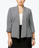 Kasper Plus Size Printed Open-Front Jacket