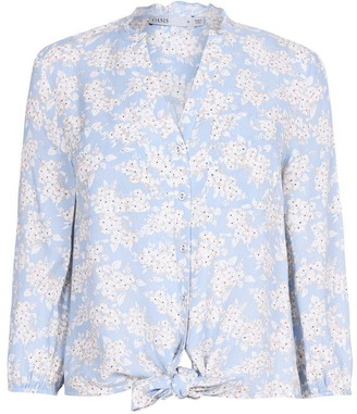 Oasis Floral Tie Front Shirt