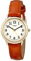 Timex Easy Reader Croco Pattern Leather Strap Watch