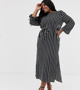 Unique21 Hero stripe long sleeve dress