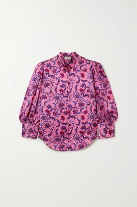 SEREN Bianca Floral-print Silk-satin Blouse